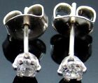.925 Sterling Silver Cz Stud Earrings With Butterfly backings
