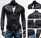 New Men's Slim Fit Motorcycle Jacket Casual Leather Jacket Coat Outwear Blazer