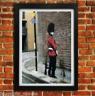 BANKSY PISSING GUARD POSTER FRAMED WALL ART PRINT PICTURE SMALL MEDIUM LARGE