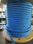 "1/2"" X 46' Halyard sail line ,anchor rope polyester double braid 8500 lb USA ,1"