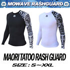 mowave men running rashguard swimwear maori tatoo athletic surfing shirts S~XXL