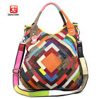 Lambskin Genuine Leather Women Tote Shoulder Bag Lady Shopping Purse Handbag