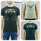 Mens Designer Born Rich By Money Stretch T Shirt Diamond Graphic Jersey Muscle