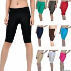 Внешний вид - Seamless Stretch Bike Shorts Solid Colors Spandex Knee Length Legging Yoga Sport