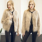 Winter Women Long Sleeve Plus Size Coat Jackets Sexy Overcoat Faux Fur Warm