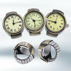 Women Vintage Punk Round Alloy Quartz Finger Ring Watch Watches Eager Nobby image