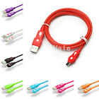 Full 2.4A Quick Rapidly Charging Micro USB Date Sync Charger Cable 9 Colors Lot