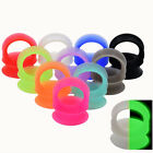 2piece thin flexible silicone ear gauges tunnels