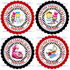 Alice in Wonderland Stickers for Sweet Cones, party bags etc - Rf 01-01