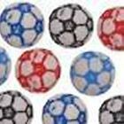 12 x 10mm Football Pony Beads Mixed packs or single colour