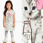 oddler Kids Baby Girl Summer Cotton Clothes Short Sleeve Tops T-Shirt Dress