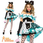 Adult Delightful Alice Tea Party Costume Fairytale Sexy Ladies Fancy Dress New