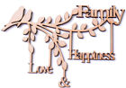 Wooden MDF Branch Shape Family Love & Happiness Family Tree Branch Frame