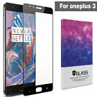 HD Clear Full Coverage Cover Tempered Glass Screen Protector for Oneplus 3 Three