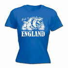 Made In England Bulldog WOMENS T-SHIRT Retro Country Nationality Gift birthday