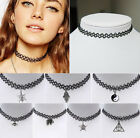 Vintage Choker Necklace for Women Girls Black Classic Stretch Gothic Tattoo