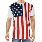 Calhoun Sportswear USA American Flag Stars And Stripes Patriotic Men's T-Shirt