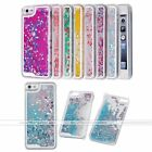 Dynamic Heart Liquid Glitter Quicksand Hard Back Case Cover for iPhone 5 5s SE
