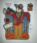 SCARECROW ROW Wall Hanging Thanksgiving Fall Harvest Fabric Panel