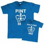 Pint and Half Pint, Funny T Shirt - Father, Son, Daughter, Birthday Gift for Dad
