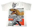JURASSIC WORLD kids short sleeve cotton summer t-shirt Size S-XL 3-8y Free Ship