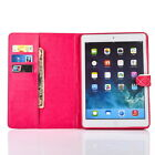 Color Printed Faux Sheepskin Leather Flip Protective Cover Case For ipad6 MC