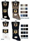 6 Mens No Non Elastic 100% Cotton BIG FOOT Loose Wider Top Socks UK 11-14