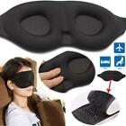 Travel Sleep Eye Mask 3D Soft Foam Padded Shade Cover Airplane Relief Blindfold
