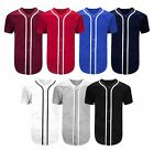 Mens PLAIN CLASSIC STYLE  Buttoned Baseball Jersey MADE IN USA