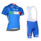 Mens Cycling Outfits Jersey Bib Shorts Kits Bicycle Shirt Brace Pants Knicks Set