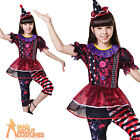 Child Clown Girl Costume Halloween Horror Carnival Fancy Dress Outfit New