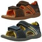 Boys Clarks Leather Open Toe Sandals Stompo Bay