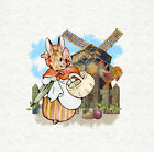 Mrs Rabbit Goes Shopping Craft Panel / Qulting 8 x 8 inch - Peter Rabbit
