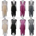 Women Dress Party Evening Elegant Summer Irregular Lace Maxi Dress Size S UR