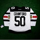2016 Corey Crawford REEBOK Chicago Blackhawks Stadium Series Premier Jersey Men