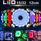 1xDIY 12V 4Pin LED Light Neon Quite Clear 12cm PC Computer Case Cooling Fan Mod