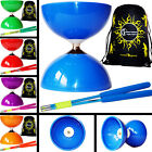 Big Top - Jumbo Bearing Diabolo Set + Coloured Fibre Diablo Sticks + String, Bag