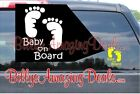 "Внешний вид - Baby on Board Footprints 4"" Up Vinyl Decal Car Ride Safety First Window Sticker"