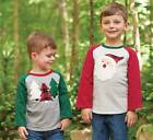 Mud Pie Holiday Alpine Trees or Santa Christmas T-Shirt  Medium 24M-2T/3T