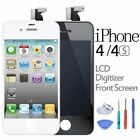 For iPhone 4/4S LCD Screen Replacement Touch Digitizer Assembly Black White+Tool