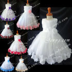 #MFW7 Baby Girls Wedding Christening Baptism Birthday Party Night Gowns Dresses