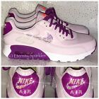CUSTOMISED LILAC / PALE PINK CRYSTAL AB NIKE AIR MAX 90 WOMENS LADIES TRAINERS