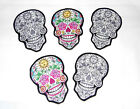 Sugar Skull Patch DIY Iron On Fabric Appliques T-shirt girl craft Tattoo Baby