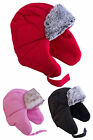 Water Proof Toddler Hat w/ Ear Warmer & Faux Fur material in 3 different colors