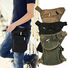 3 Color New Canvas Travel Hiking Fanny Pack Waist Thigh Drop Leg Outdoor Bag LN