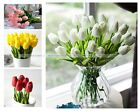 20Pcs Tulip Artificial Flower Real Touch Latex Bridal Wedding Bouquet Home S3