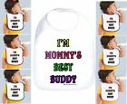 Rabbit Skins Infant Cotton Snap Bib I'm Mommy's Best Buddy