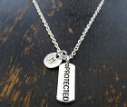 PERSONALIZED Protected Necklace - choose an Initial, Protection Jewelry, Police