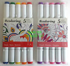 #COLOURING TWIN TIP MARKERS - Basic Palette, Floral