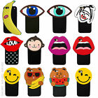 Pop Art Cartoon Animal Emoji 3D Silicone Case Cover For iPhone 5 5c 6 6S Plus SE